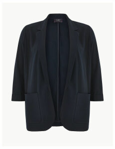 M&S Collection CURVE Open Front Patch Pocket Blazer