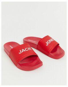 Jack & Jones logo sliders in red