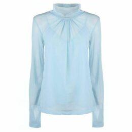 Victoria Beckham Long Sleeve Sheer Shirt
