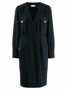 Yves Saint Laurent Pre-Owned envelope shirt dress - Blue