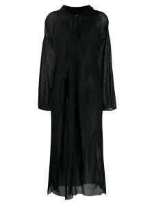 Jean Paul Gaultier Pre-Owned sheer kaftan dress - Black