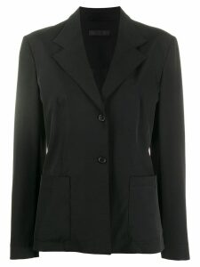 PRADA PRE-OWNED slim buttoned blazer - Black