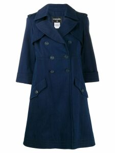Chanel Pre-Owned double-breasted midi coat - Blue