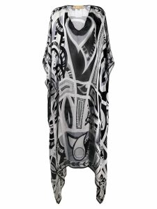 Emilio Pucci Pre-Owned 2000's printed kaftan dress - Black