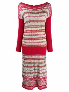 Missoni Pre-Owned 2000's knitted midi dress - Red