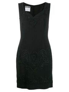 Moschino Pre-Owned embroidered mini dress - Black
