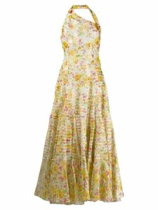 CHRISTIAN DIOR PRE-OWNED flower print maxi dress - White