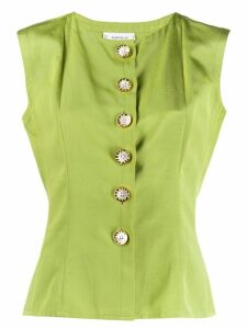 Yves Saint Laurent Pre-Owned 1980's slim buttoned blouse - Green