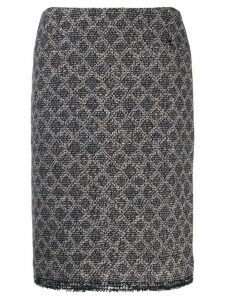 Chanel Pre-Owned 2004's geometric pattern skirt - Blue