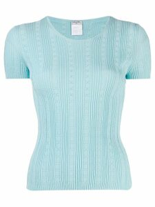 Chanel Pre-Owned 2005 CC knitted top - Blue
