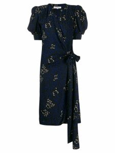 Yves Saint Laurent Pre-Owned 1980's printed dress - Black
