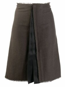 Lanvin Pre-Owned 2000's pleated detail A-line skirt - Brown