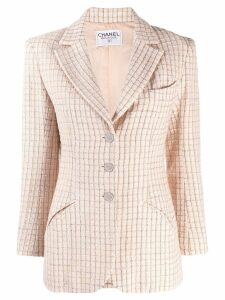Chanel Pre-Owned 2000's checked slim blazer - Neutrals