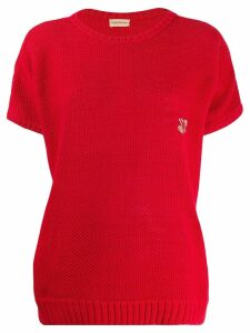 VERSACE PRE-OWNED 1980's knitted top - Red
