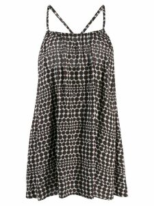 Chanel Pre-Owned 2010's polka dotted loose dress - Black