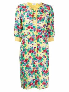 Valentino Pre-Owned 1980's floral dress - Yellow