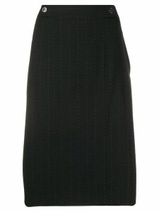 SALVATORE FERRAGAMO PRE-OWNED 2000's pinstripe straight skirt - Black