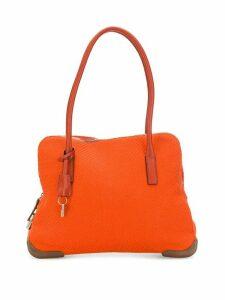 Prada Pre-Owned 1990's woven tote - Orange