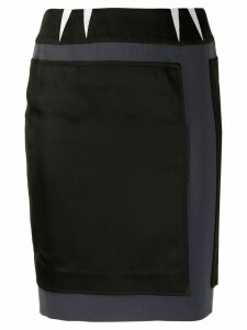 BALENCIAGA PRE-OWNED 2000's patched fitted skirt - Black