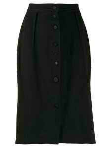 Lanvin Pre-Owned 2005s slim buttoned skirt - Black
