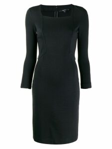 Gucci Pre-Owned 1990's geometric patch fitted dress - Black