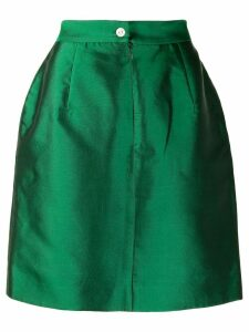 Dolce & Gabbana Pre-Owned 1990's metallic straight skirt - Green