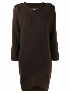 Yves Saint Laurent Pre-Owned 1980's envelope hem longsleeved dress -