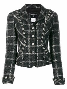 Chanel Pre-Owned 2006's checked fitted jacket - Black