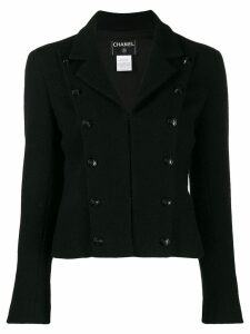 Chanel Pre-Owned 2003's double breasted cropped jacket - Black