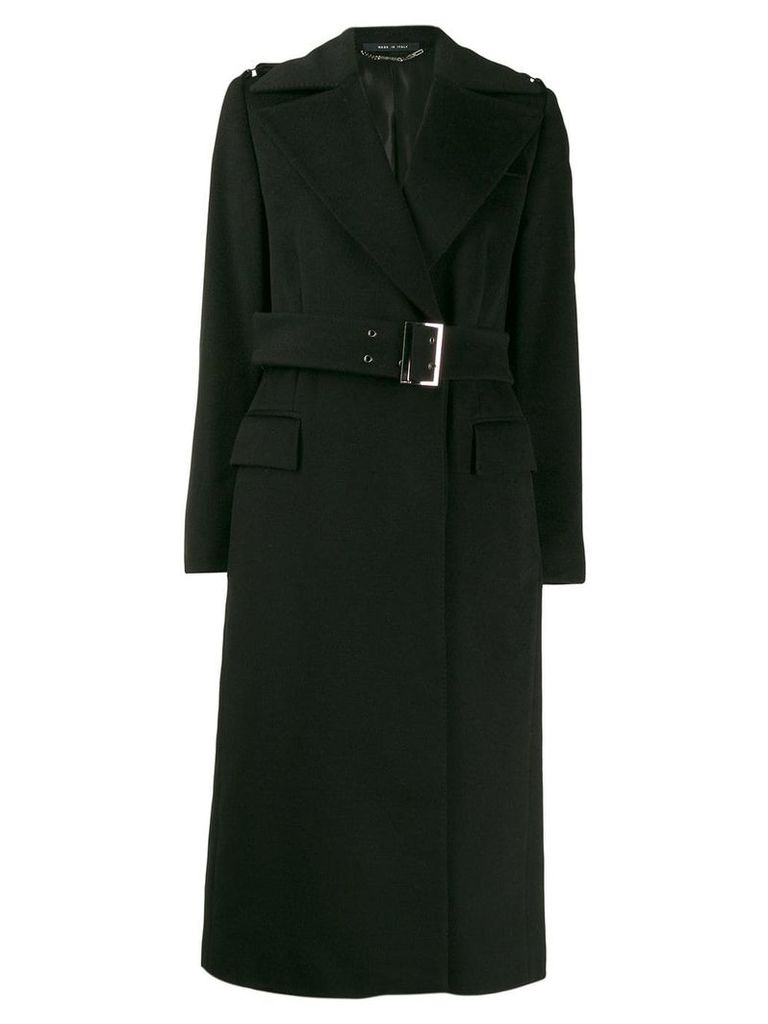 Gucci Pre-Owned 1990's belted midi coat - Black