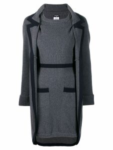 Chanel Pre-Owned 2008's knitted dress and coat - Grey