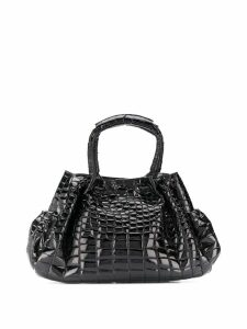 Giorgio Armani Pre-Owned 2000s crocodile leather tote - Black