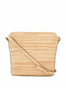 Salvatore Ferragamo Pre-Owned 1970's woven shoulder bag - Neutrals