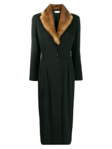 DOLCE & GABBANA PRE-OWNED 1990's slim long coat - Black