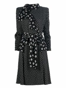 Emanuel Ungaro Pre-Owned spotty print dress - Black