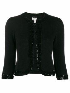 Chanel Pre-Owned 2007's sequin embellished jacket - Black
