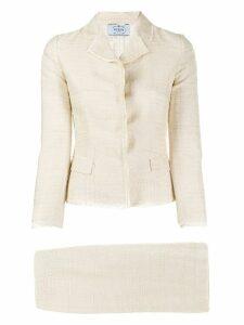 Prada Pre-Owned 1990's skirt suit - Neutrals