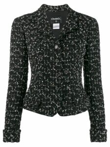 Chanel Pre-Owned 2006's buttoned tweed jacket - Black