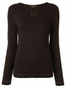 Fendi Pre-Owned long sleeve top - Brown