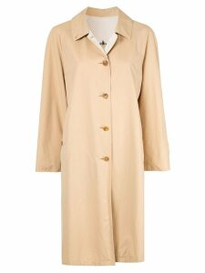 Burberry Pre-Owned Long Sleeve Coat - Brown