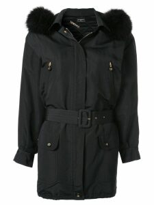 CHANEL PRE-OWNED short parka jacket - Black