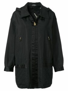 Chanel Pre-Owned hooded lightweight jacket - Black