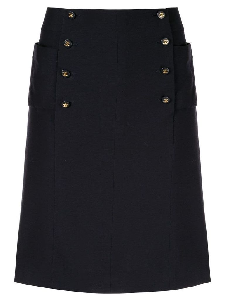 Chanel Pre-Owned CC skirt - Black