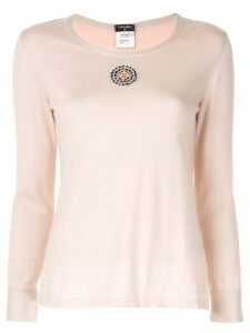 Chanel Pre-Owned Chanel corsage motif long sleeve tops shirts - Pink