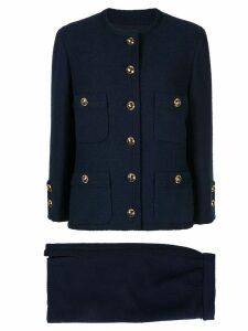 Chanel Pre-Owned CC setup suit jacket skirt - Blue