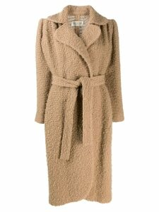 Valentino Pre-Owned 1980s tied midi coat - Neutrals