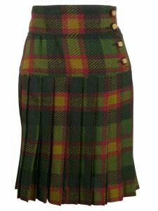 Yves Saint Laurent Pre-Owned tartan mini skirt - Green