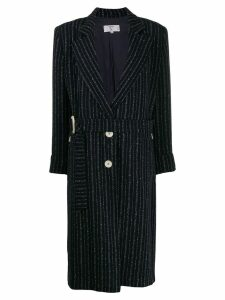VALENTINO PRE-OWNED '1980s striped coat - Blue