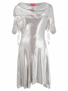 Vivienne Westwood Pre-Owned draped collar dress - Silver