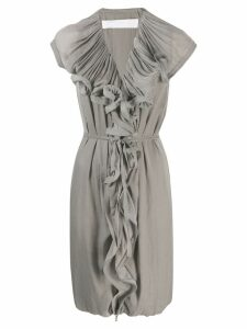 Lanvin Pre-Owned ruffled cocktail dress - Grey